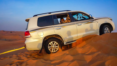 Jeep tour in the desert of Abu Dhabi Footage