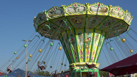 Carousel Spring Festival Deggendorf, Germany stock footage