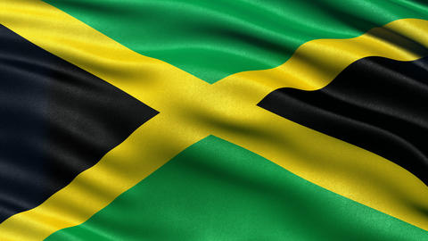 4K Jamaica flag seamless loop Animation
