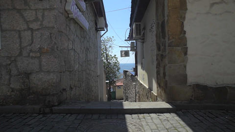 Small Houses In The Narrow Streets Footage