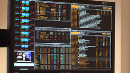Gold and stock prices on a computer screen Footage