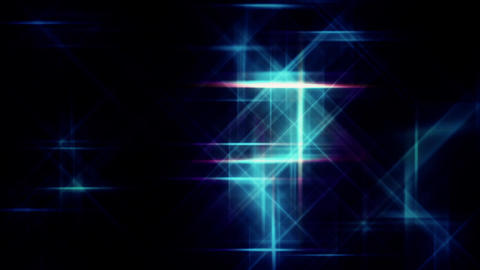Digital Blue Grid Stars Flying Background Animation