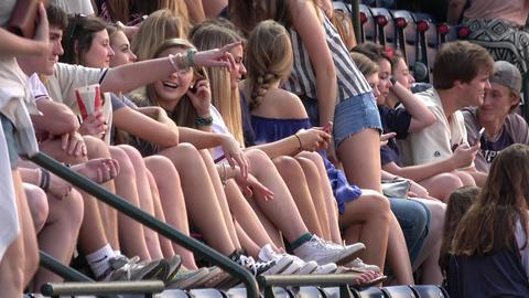 People watching Baseball at Turner Field Atlanta - ATLANTA / GEORGIA - APRIL 20, Live Action