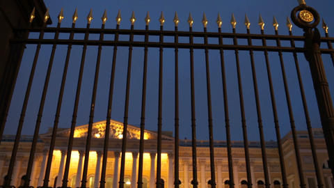 Luxury royal palace behind a high solid fence Stock Video Footage