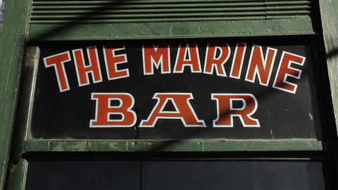The Marine Bar. Close-Up. Old Cafe of Buenos Aires (Argentina) Footage