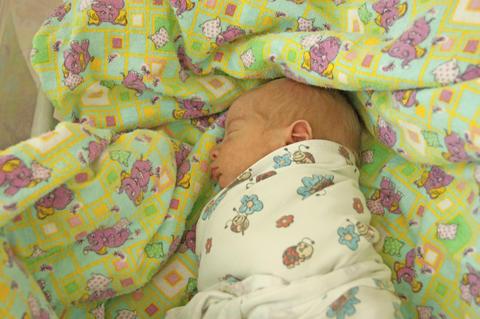 newborn in the hospital Fotografía