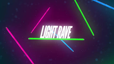 Light Rave Neon Bulbs Motion Graphics Template