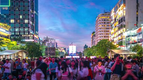 Nguyen Hue Walking Street Time Lapse GIF