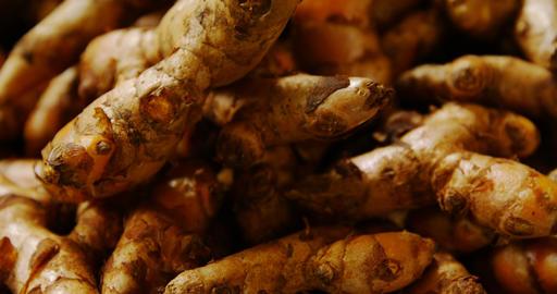 Close-up of ginger in basket at supermarket 4k Live Action