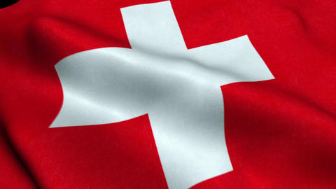 Switzerland Flag Seamless Looping Waving Animation Animation