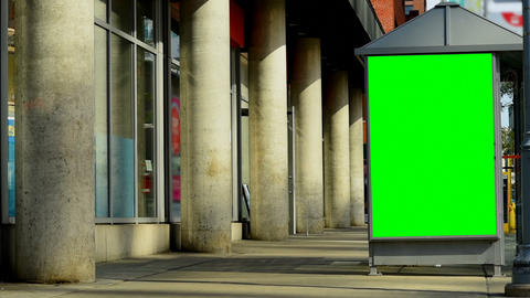 Led hoarding on the exterior of telephone booth 4k Live Action