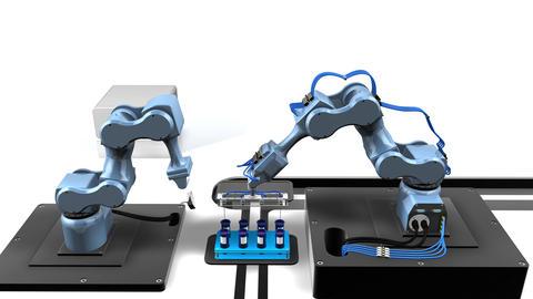 Automated laboratory Animation