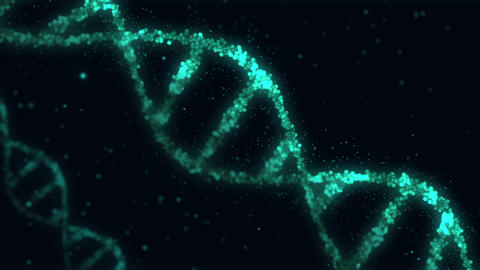 DNA helix particles animation CG動画素材