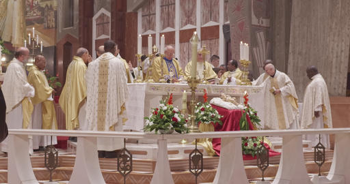Nazareth, December 24, 2018. Christmas mass in the Basilica of the Annunciation GIF