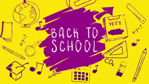 Back to School Scribbling Animation Animation