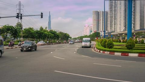 Hanoi Highway Time Lapse GIF