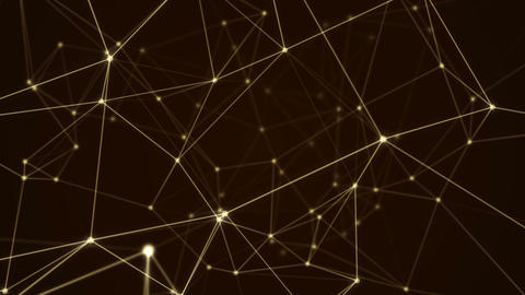 Abstract futuristic molecule structure motion graphic gold color black Animation