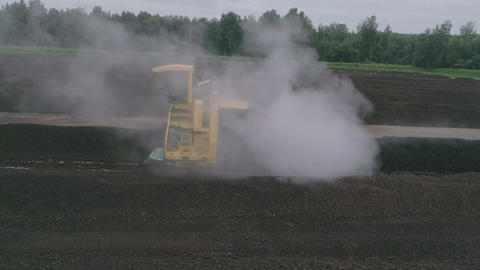 tractor processes a field Footage