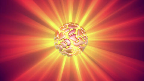 Rotating glowing orb with light rays. Seamless looping 3d animation Animation