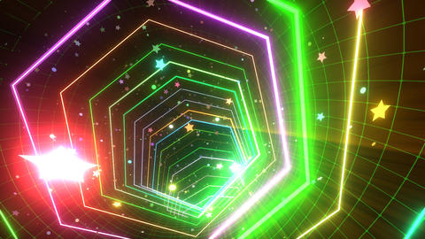 VJ Loop Glowing Disco Tunnel Stock Video Footage