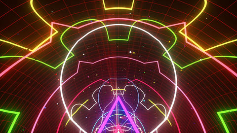 VJ Loop Glowing Disco Tunnel Animation