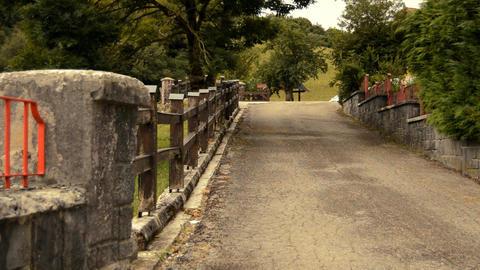 Paved Path Near Some Fences Footage