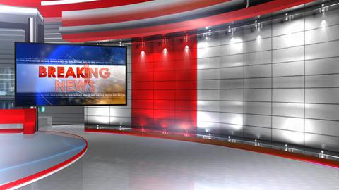 Breaking news virtualset 1 Animation