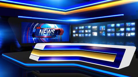 News Virtual set long Animation