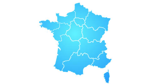 France Map Showing Up Intro With New Regions Animation