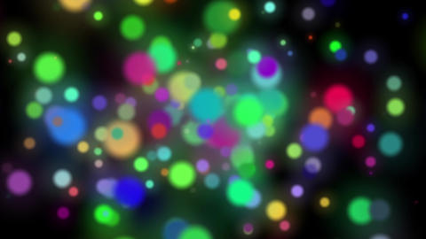 Slow Colorful Dark Swirling Particles Rotating Abstract Motion Background Loop Animation