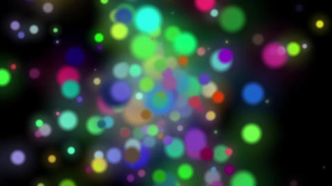 Slow Colorful Dark Dynamic Particles Cluster Abstract Motion Background Loop Animation