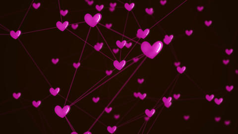 Social network heart connection with love icon structure… Stock Video Footage