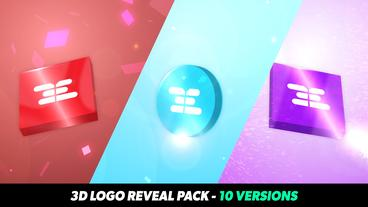 3D Logo Reveal Pack - 10 Versions After Effects Template