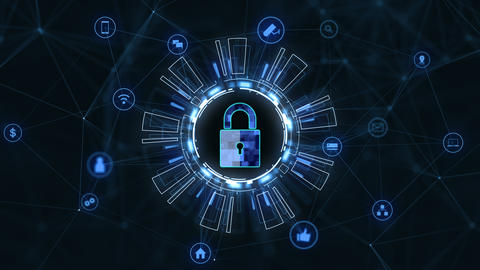 Technology security concept16 Animation