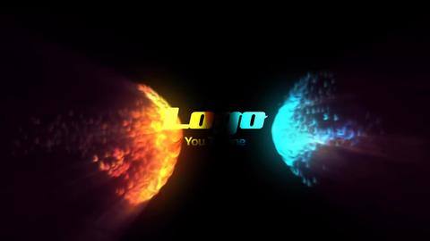 Fire And Water Logo Reveal After Effects Template
