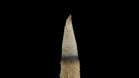 Incense stick with smoke on black background Stock Video Footage