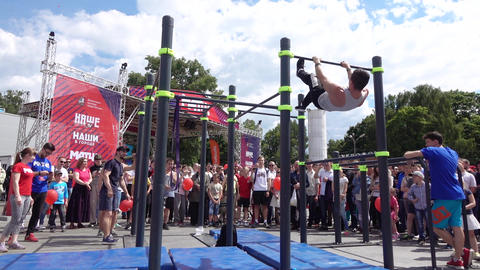 Performance of gymnasts Footage