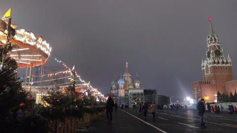 Festive festivities on Red Square Live Action