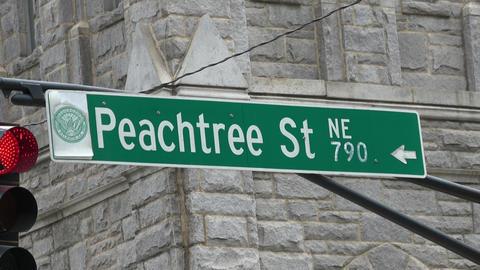 Atlanta Peachtree street - street sign - ATLANTA / GEORGIA - APRIL 22, 2016 Live Action