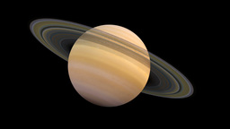 The solar system-Saturn Animation
