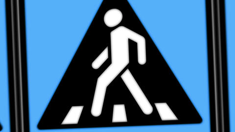 Walking sign animation CG動画素材