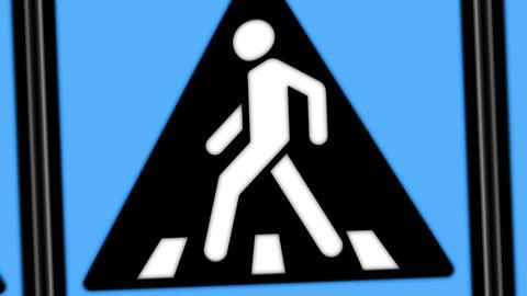 Walking sign animation Animation