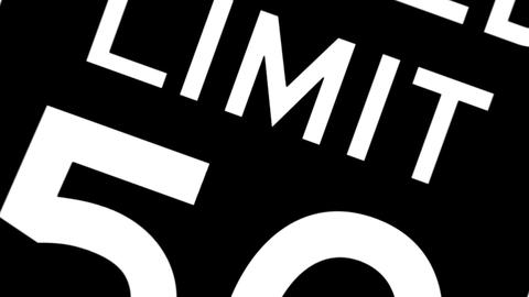 Speed limit sign animation Animation