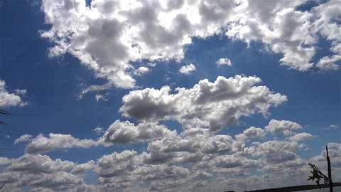 White clouds and fluffy which outpaced the blue sky in summer 38 Footage