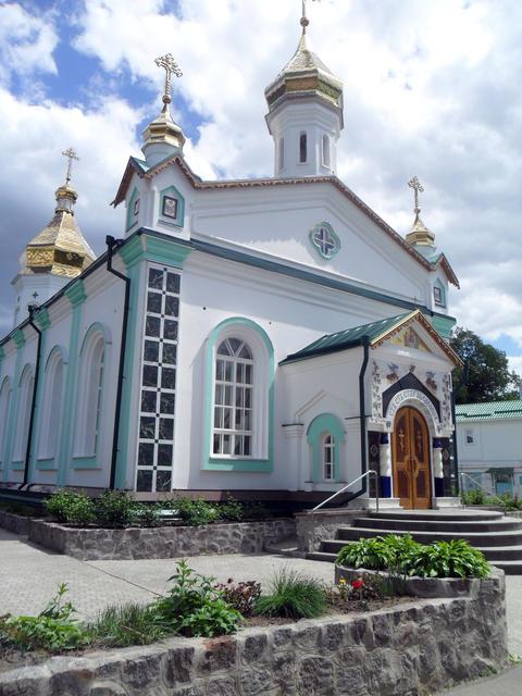 Christian church front view Poltava region Ukraine Fotografía
