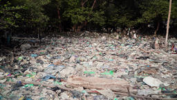 problem with garbage in asia java, indonesia Stock Video Footage