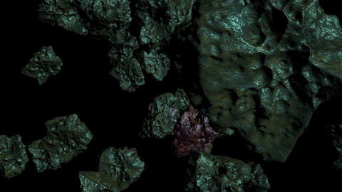 High Detailed Rotating Asteroid -has alpha channel Animation