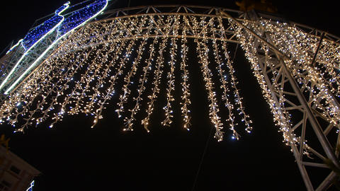 Christmas Outdoor Illumination Footage