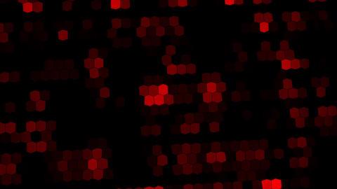 Red Digital Neon Hexagons VJ Loop Background Animation