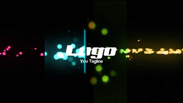 Glow Particles Logo Reveal After Effects Template